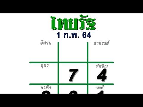โค้งสุดท้าย หวยไทยรัฐ 01/02/64 เลขเด็ด เลขดังงวดนี้ 2 ตัว และ 3 ตัว